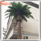 Fiberglass Plastic Artificial Decorative Metal Palm Trees