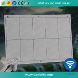 Layout 2 X 5 tamanho A4 F08 S50 folhas de incrustação RFID