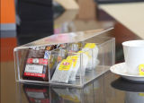Caja de embalaje de té de acrílico personalizada, Caja de acrílico transparente hermosa y práctico