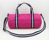 주문 로고를 가진 Fushcia 색깔 12oz 화포 끈달린 가방