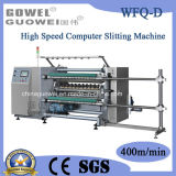 High Speed controlado por computador Roll Slitter Machine para Plastic Film