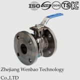 2PC a bridé robinet à tournant sphérique d'acier inoxydable avec le support de fixation direct