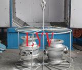 De robinet à tournant sphérique excentrique de Dessus-Entrée à haute pression demi