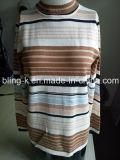 Mola/camisola 100%Cotton listrada colorida da queda para mulheres/senhoras