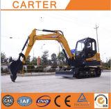 Máquina escavadora quente do Backhoe das vendas CT45-8b (4.5t) com assento luxuoso
