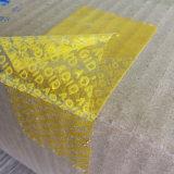 良質のカスタム反タンパーテープ; 機密保護のシールテープ