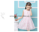 Modo Flower Printing Lovely Princess Girls Dress con il cinturino