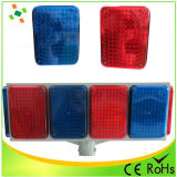 Grande LED Solar flash de luz de advertência / Traffic Light
