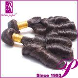 方法Style 6A 100%年のPeruvian Virgin Hair、Hair Extention Free Sampls
