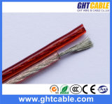 투명한 Flexible Speaker Cable (2X1.2mmsq CCA Conductor)