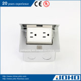 Single di alluminio Pop in su Floor Mount Socket 15A Outlet