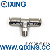 Ce 609 Tee Type de laiton / acier inoxydable Push to Connect Fittings