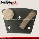 Twee van het Concrete Segmenten Blok van het Trapezoïde Malende met Polaire Magnetische Rug