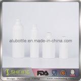 Bottiglia di alluminio bianca per l'estetica
