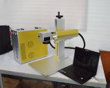 Портативная машина маркировки лазера волокна Mopa 20W цвета черноты маркировки для телефона, пусковой площадки, крена силы ювелирных изделий СИД Bulms IC