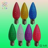LED C9 축제 크리스마스 나무 빛 LED E17 C9에 의하여 면을 내는 전구