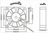 50*50*15mm DC 12V Low Rpm Waterproof Fan