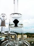 """Hb-K57 """"der Atomkern"""" 8 Arm-Recyclerrocket-Form-rauchendes Wasser-Glasrohr"""