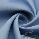 Agua y de la ropa de deportes tela rayada doble tejida chaqueta al aire libre Viento-Resistente 100% de la pongis del poliester del telar jacquar abajo (E083)
