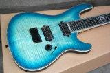Guitare électrique bleue de Mayones de musique de Hanhai/7 chaînes de caractères