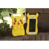 2016 tampa/caixa quentes do telefone do silicone dos desenhos animados 3D Pikachu para o iPhone/Samsung