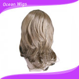 Parrucca sintetica delle donne della parrucca dei capelli biondi di Populor