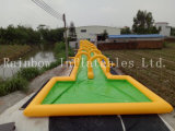 2016 de Nieuwe Dia van het Water van het Ontwerp Populaire Opblaasbare Reuze met de Dia en de Pool van de Plons (RB6081)