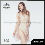 Vest van de Cardigan van Karen het Pink Knitted met Netto Rug