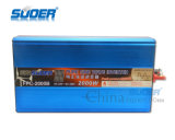 Suoer High Conversion Inverseur d'onde sinusoïdale Pure 2000W Power Inverter DC 24V à AC 220W (FPC-2000B)