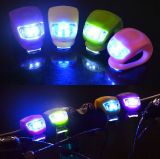 Luz de seguridad amonestadora impermeable de la bicicleta de la bici del silicón LED de la lámpara