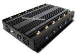 보편적인 12 안테나 2 바탕 화면 2g 3G 4G 셀룰라 전화 방해기 WiFi GPS Lojack UHF VHF 방해기 315/433MHz 방해기 차단제