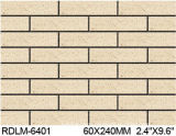 Exterior Wall Brick 60*240mm Rdlm6401のための粘土Split Tile