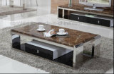 2016木のキャビネットが付いている新式の金属のコーヒーテーブル