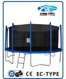 EnclosureおよびLadderとの15ft Trampoline