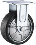 Rueda gris resistente del echador del eslabón giratorio de la llama del poliuretano