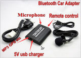 o auto Bluetooth adaptador de 12V para o rádio de carro fornece Bluetooth/in/USB auxiliar
