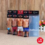 Plastikdruck, der für underwears (Boxerverpackt Schriftsatz der Männer)