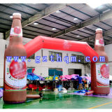 Voûte gonflable Arch/HD de boisson d'impression gonflable de la bouteille