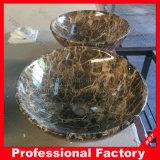磨かれた性質の花こう岩の大理石の石の浴室の洗面器の流し