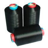 Polyester Yarn DTY 75D-600d Dope Dyed Black