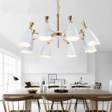 Jianer 이렇게 경이로운 디자인 새로운 현대 8lights 거는 램프 가벼운 샹들리에, 백색 색칠 금속 그늘