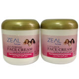 Creme de face multifacetado 170ml do cuidado de pele do zelo