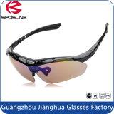 Vidros de Sun protetores de ciclagem polarizados do anti olho UV400 dos óculos de sol dos esportes ao ar livre no estoque