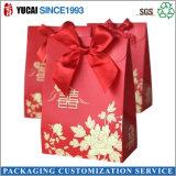 Bolso de empaquetado de papel rojo del bolso del regalo de boda