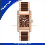 Eleganter Entwurfs-luxuriöse keramische Quarz-Uhr für Damen