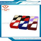 Boîte de bijoux chaude de velours de qualité de vente avec le prix usine