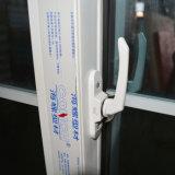 Vidrio doble con la puerta deslizante K02035 del perfil blanco del color UPVC de la red