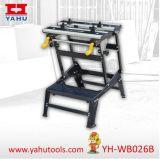 Herramientas ajustables de la carpintería de la tapa del banco del banco de trabajo del aluminio y del acero de la altura de 6 posiciones (YH-WB026B)
