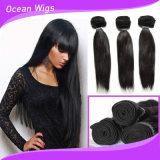 Weave do cabelo humano de 100 Remy, extensão natural brasileira do cabelo de Remy