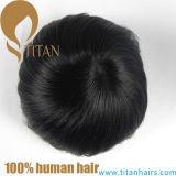 Toupee dei capelli umani del Virgin per l'uomo con la base sottile della pelle